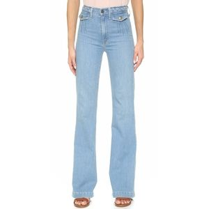 Mother Undercover Angel High Rise Flare Jeans in Good Times